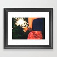 summer sparkler Framed Art Print
