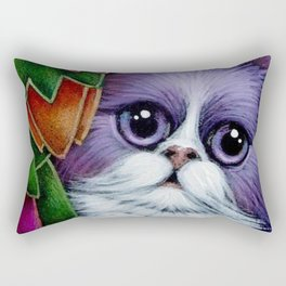 SPRING VIOLET FAIRY CAT IN MY GARDEN Rectangular Pillow