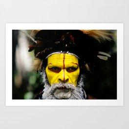 Papua New Guinea: Huli Wigman Art Print