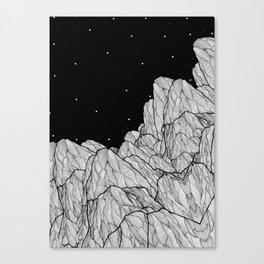 Rocks of the moon Canvas Print