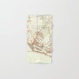 Vintage Map of Newport Beach California (1951) Hand & Bath Towel