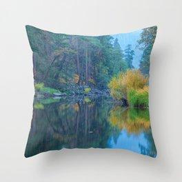 Autumn Dawn at Merced River Throw Pillow
