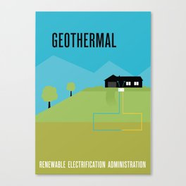 Renewable Electrification Administration - Geothermal Canvas Print