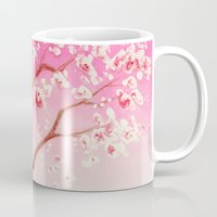 cherry blossoms Mugs featuring Cherry Blossoms by Dana Martin