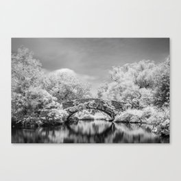 Gapstow Bridge, Central Park in Infrared Canvas Print