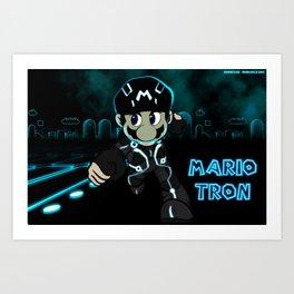 Mario Tron Art Print