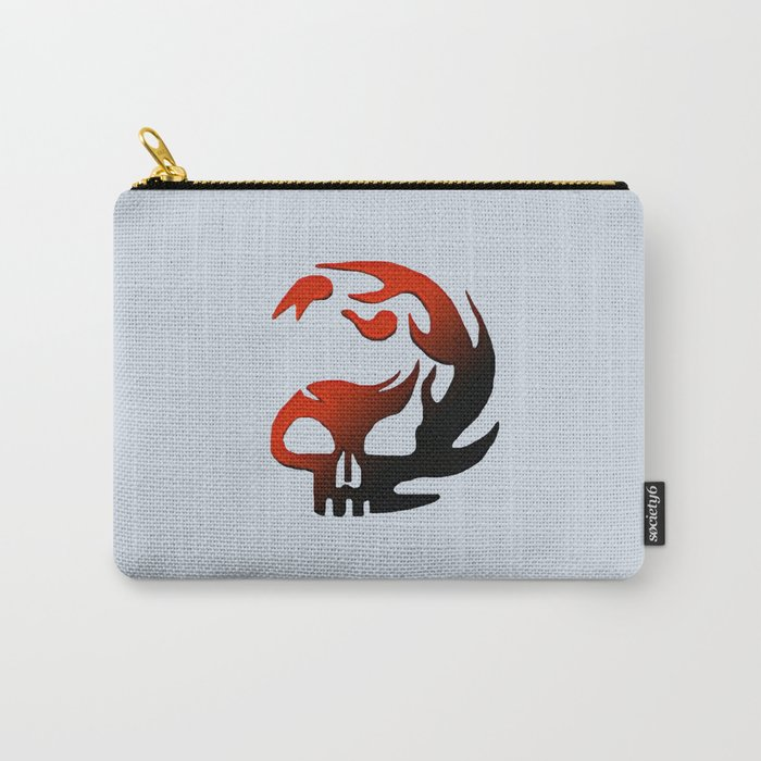 Fire Skull Carry-All Pouch