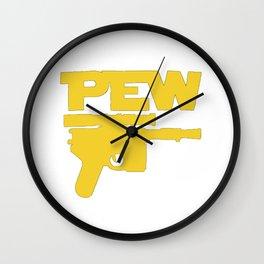 Pew Blaster Wall Clock