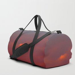 Red cloud shining at sunset Duffle Bag