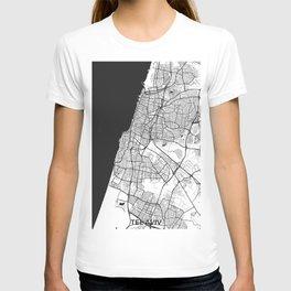 Tel Aviv Map Gray T-shirt