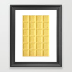 White chocolate Framed Art Print