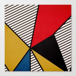 Primary Colors and Stripes Canvas Print