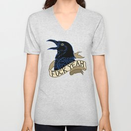 Fyeah Crow Unisex V-Neck