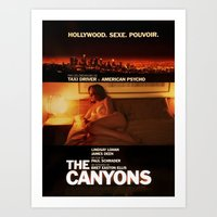 """lindsay lohan Art Prints featuring Lindsay Lohan """"The Canyons"""" French Film Poster by Eric Terino"""