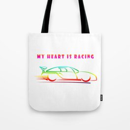 Fathers Day Speedway Car Race Tote Bag