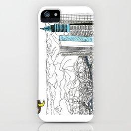 Illustration_ On the road_ Jack Kerouak iPhone Case