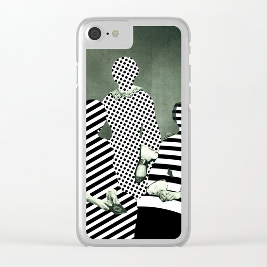 Fragmented Memories Clear iPhone Case