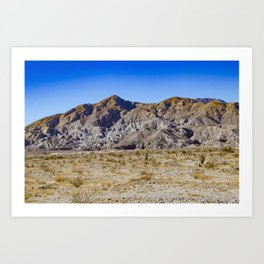 Looking Back towards Granite Mountain across the Highway in the Anza Borrego Desert State Park Art Print