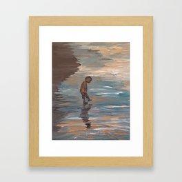 Kid in the Water Framed Art Print