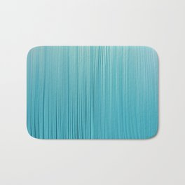 Abstract Modern Teal Ivory Gradient Brushstrokes Bath Mat