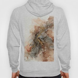 Abstract Ink - Earth Tones Gold Hoody