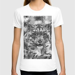 AnimalArtBW_Leopard_20170601_by_JAMColorsSpecial T-shirt