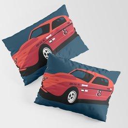 Vintage Hill Climb Race Car Pillow Sham
