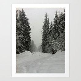 Winter Mountains Snow Art Print