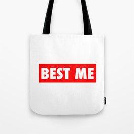 Best Me Fitness Gym Workout Motivational Tote Bag