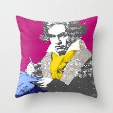 Ludwig van Beethoven 7 Throw Pillow