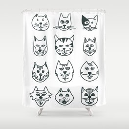 Cats - Who let the dog in? Shower Curtain
