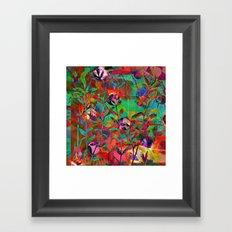 floral and light Framed Art Print