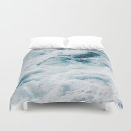 sea - midnight blue storm Duvet Cover