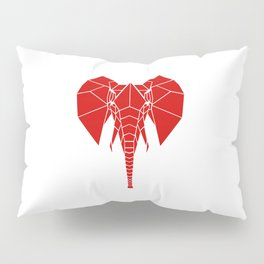 RED Elphant Pillow Sham