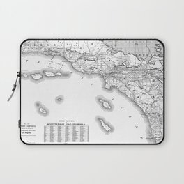 Southern California Map Laptop Sleeve
