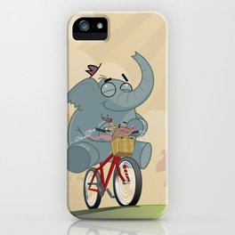 Mr. Elephant & Mr. Mouse 'Bicycle' iPhone Case