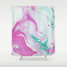 Marbling Shower Curtain
