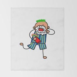 Brushing Teeth Boy Throw Blanket