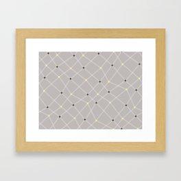 Chemistry Class Doodles - Neutral Framed Art Print
