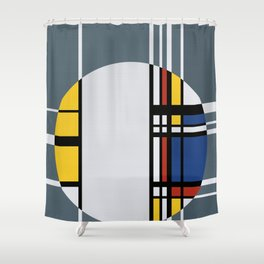 Abstract Composition 429 Shower Curtain