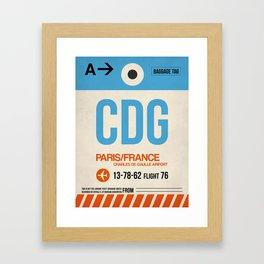 CDG Paris Luggage Tag 2 Framed Art Print