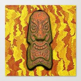 Mean Face Tiki Canvas Print