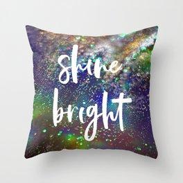 Shine bright glitter background Throw Pillow