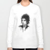 bob dylan Long Sleeve T-shirts featuring Bob Dylan by Nour Shalabi