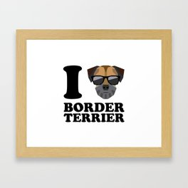 I Love Border Terrier modern v1 Framed Art Print