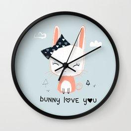 RABBIT BUNNY CARTOON Wall Clock