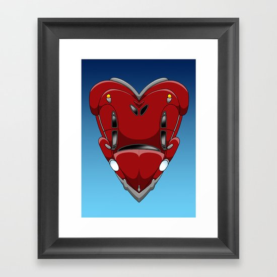 Be still my beetle heart Framed Art Print