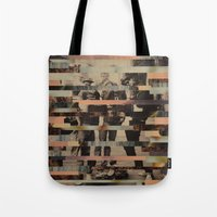 beastie boys Tote Bags featuring The Boys by Claire Elizabeth Stringer
