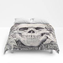 Skull and Flowers Vanitas Comforters