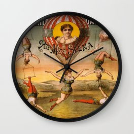 Vintage poster - Descente D'absalon Wall Clock
